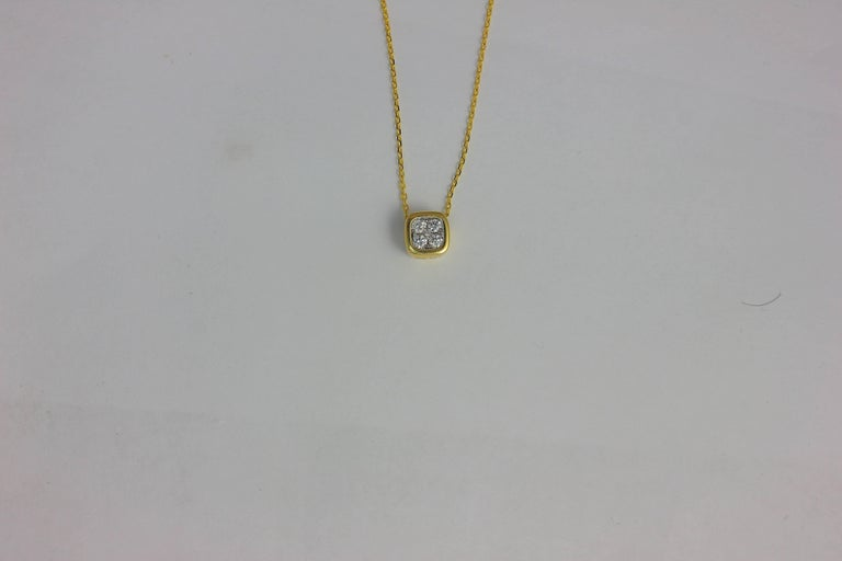 Contemporary Frederic Sage 0.19 Carat Diamond 7mm Pendant Necklace For Sale