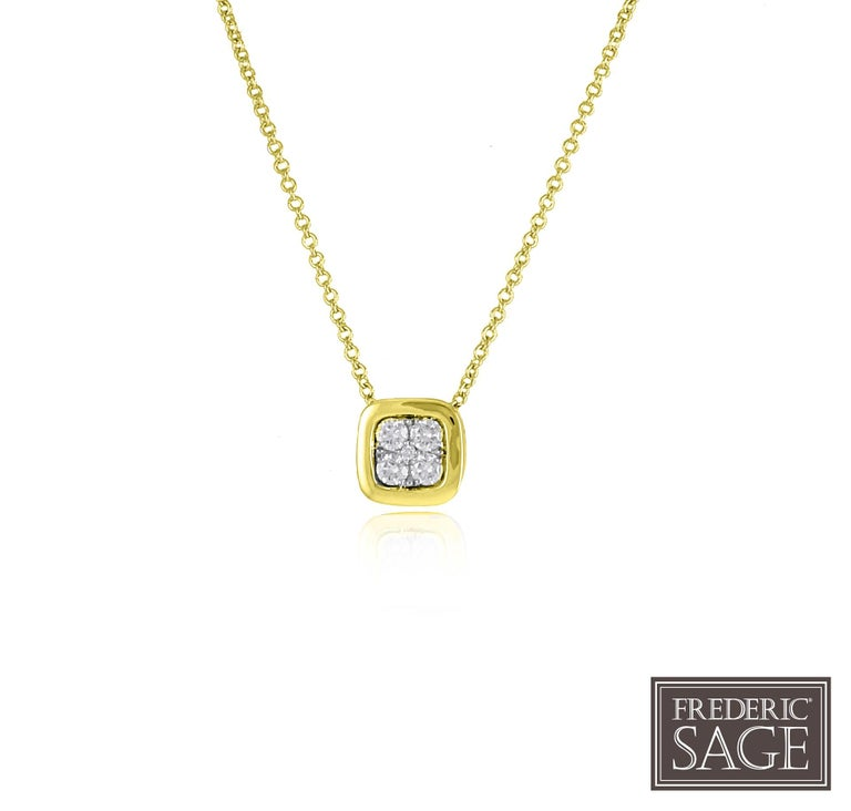 Frederic Sage 0.19 Carat Diamond 7mm Pendant Necklace In New Condition For Sale In New York, NY