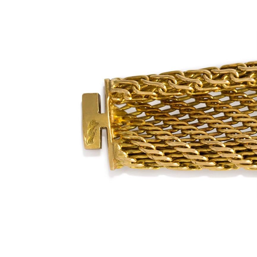 1950s French Diamond Gold Bracelet Image 3