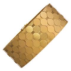 1950s Unoaerre Gold Bracelet