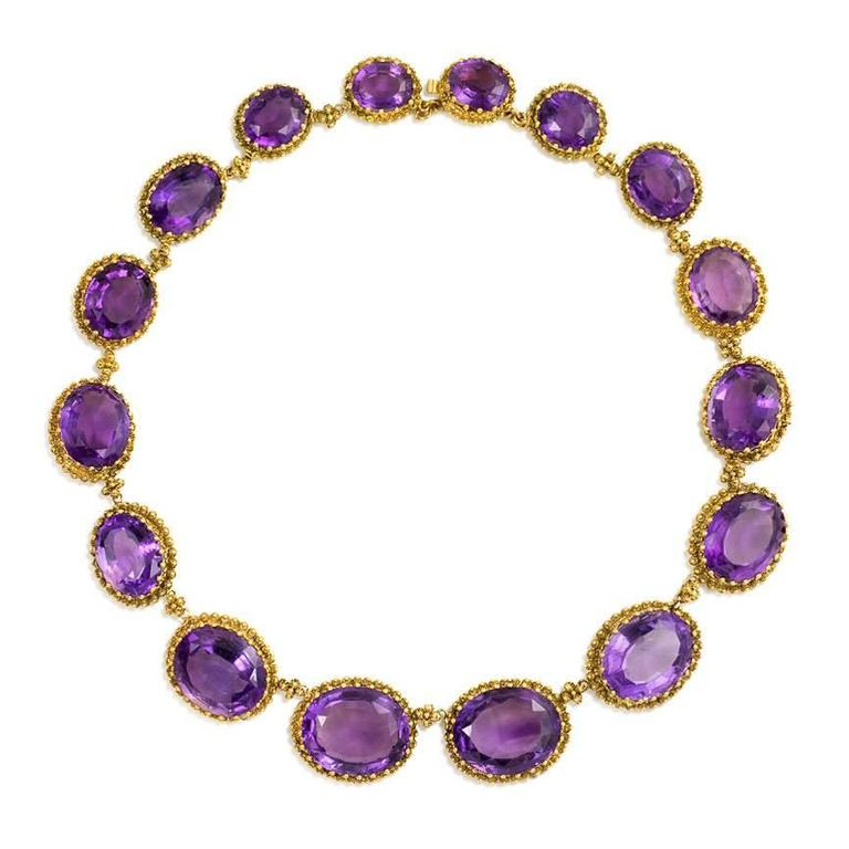 Victorian Amethyst Gold Necklace