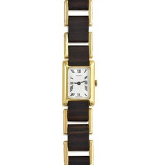 Gucci Yellow Gold Wood Tank Wristwatch, 1970s