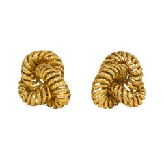 1950s Van Cleef & Arpels Paris Gold Knot Earrings