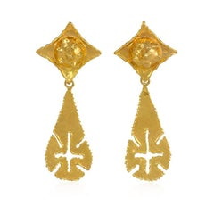 1970s Jean Mahie Gold Day-to-Night Earrings
