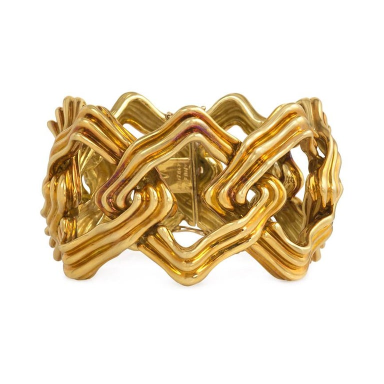 1970s Tiffany & Co. Gold Geometric Link Bracelet