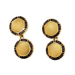Bulgari Gold and Enamel Cufflinks