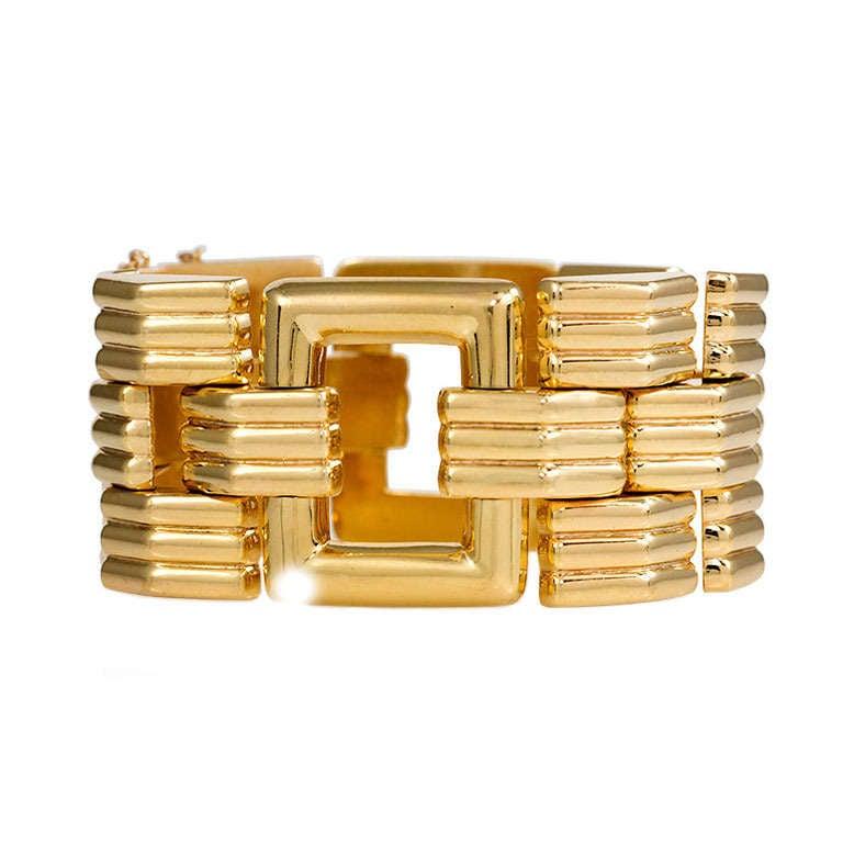 Gold Tank Bracelet At 1stdibs