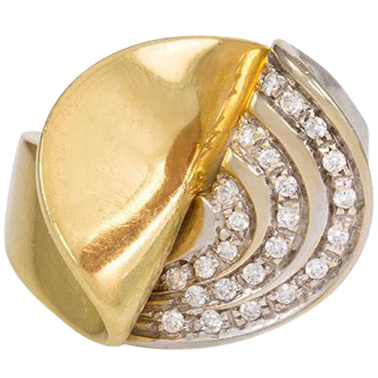 italian gold ring at 1stdibs