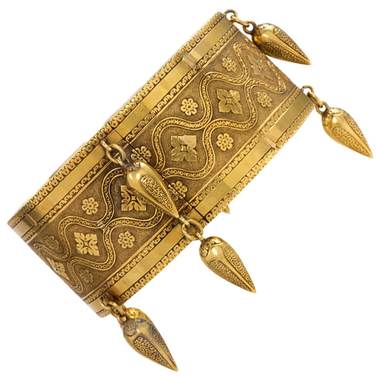 Antique Gold Moorish Motif Cuff Bracelet At 1stdibs