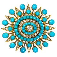 Antique Gold Topaz And Garnet Pendant With Aquamarine
