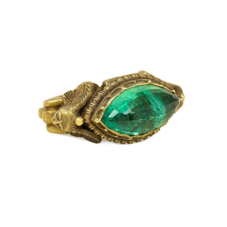 Egyptian Revival Engagement Ring