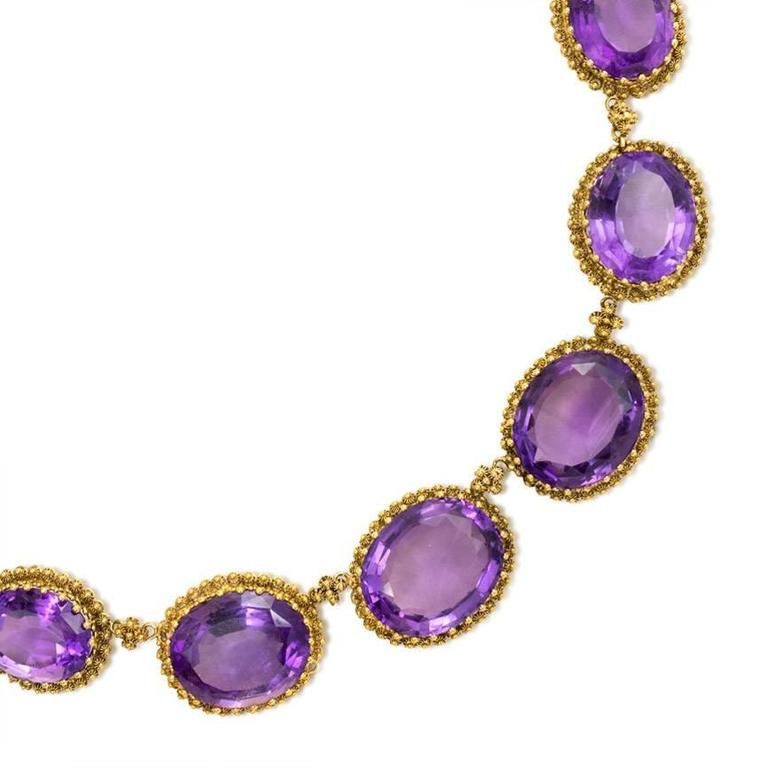 amethyst gold necklace for sale at 1stdibs