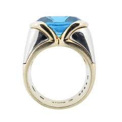 Marina B. Vivid Blue Topaz Gold Ring