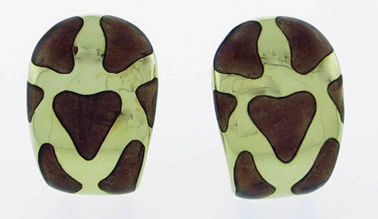 Roberto Coin Enamel Gold Giraffe Earrings 2