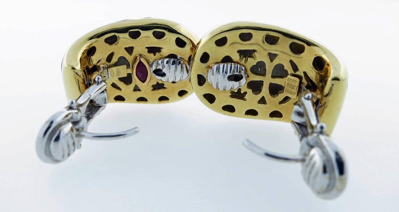 Roberto Coin Enamel Gold Giraffe Earrings 3