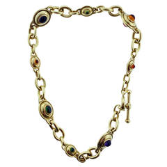 Kieselstein-Cord Substantial Gemstone Gold Necklace
