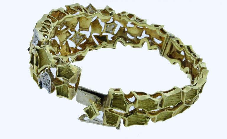 Modern Design Diamond Bangle Bracelet 2