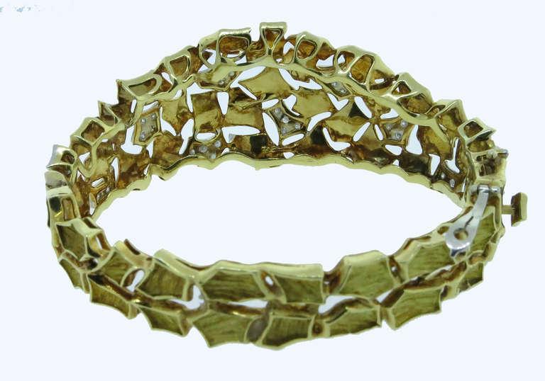 Modern Design Diamond Bangle Bracelet 3