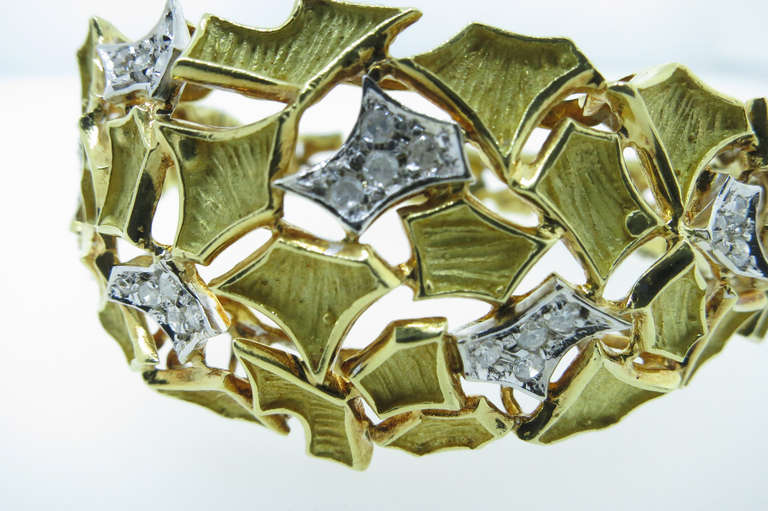 Modern Design Diamond Bangle Bracelet 4