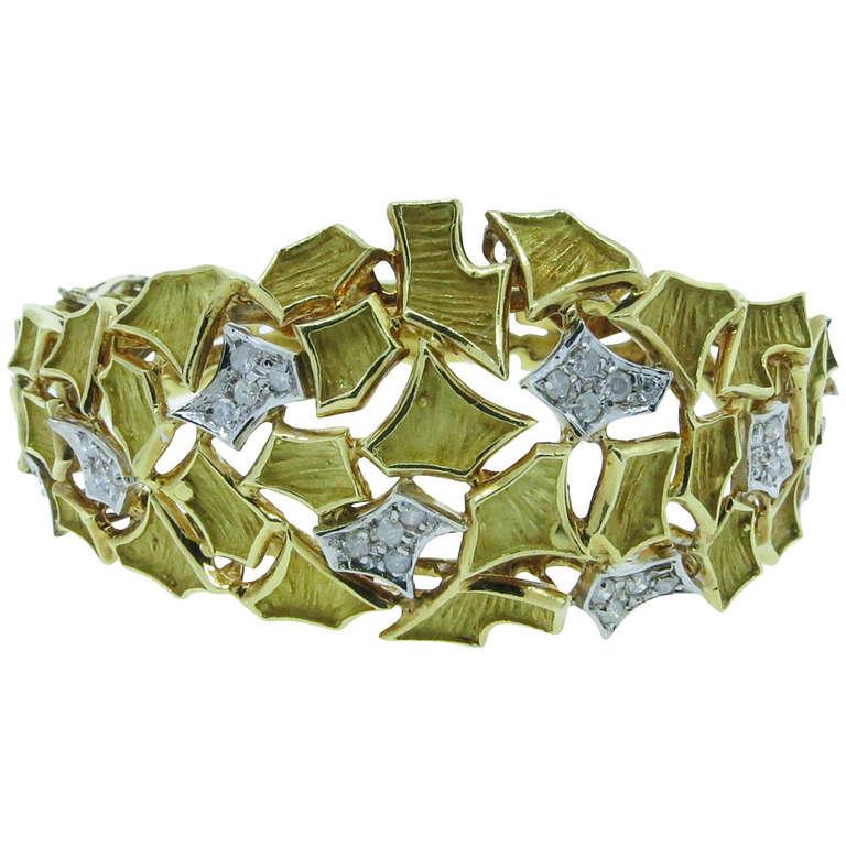 Modern Design Diamond Bangle Bracelet 1