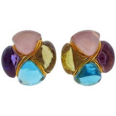 Laura Munder Chunky Cabochon Earrings