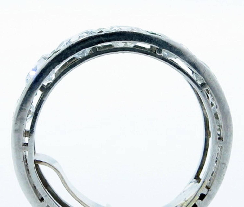 Special Platinum: Art Deco Special Emerald Diamond Platinum Band Ring At 1stdibs