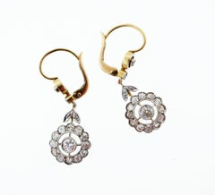 Park Place Antique Jewelry Edwardian Diamond Earrings