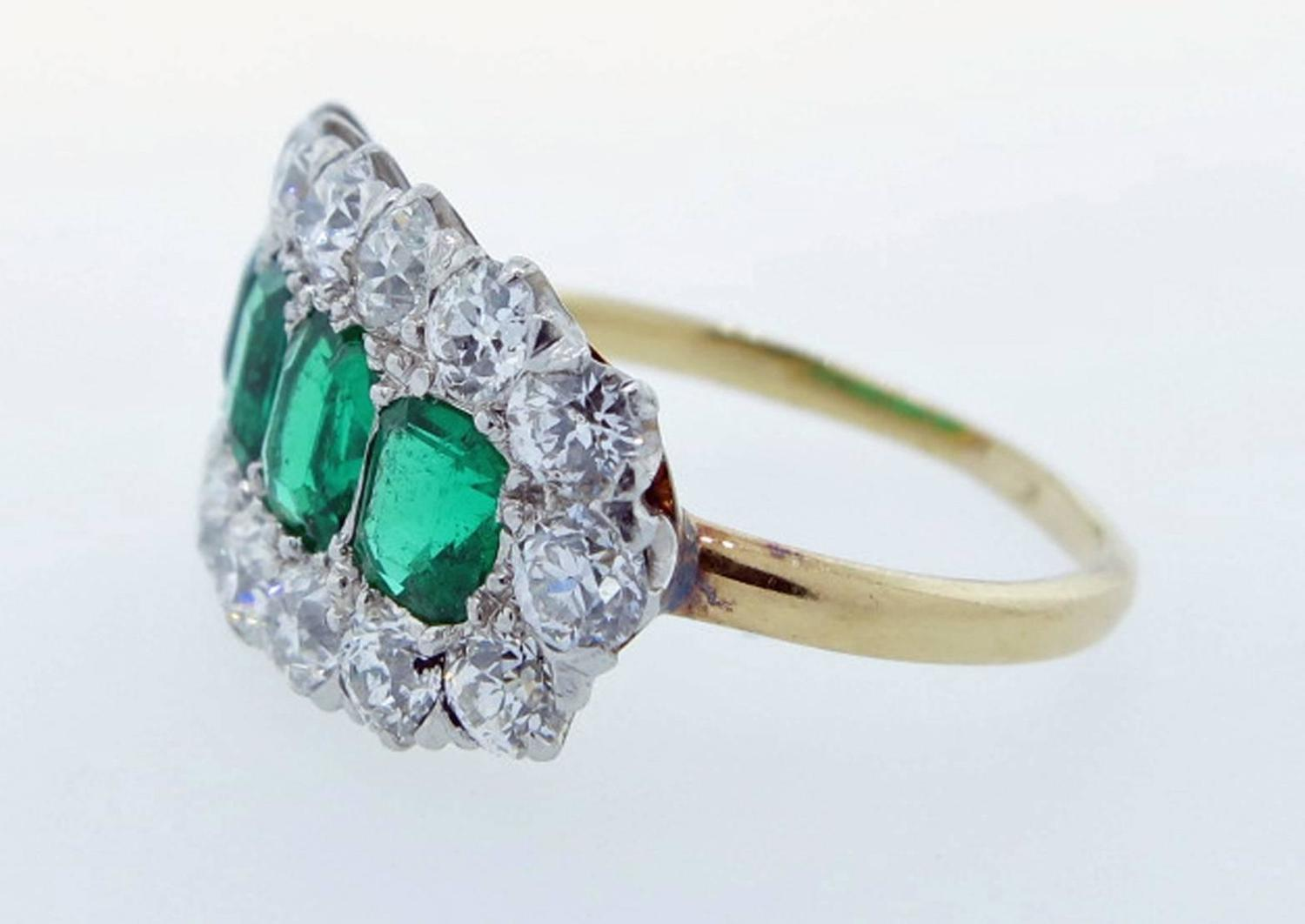 exquisite antique emerald and ring at 1stdibs