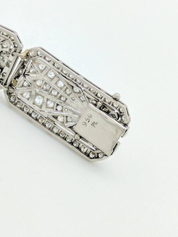 Art Deco 8.68 Carat Diamonds Platinum Bracelet 7