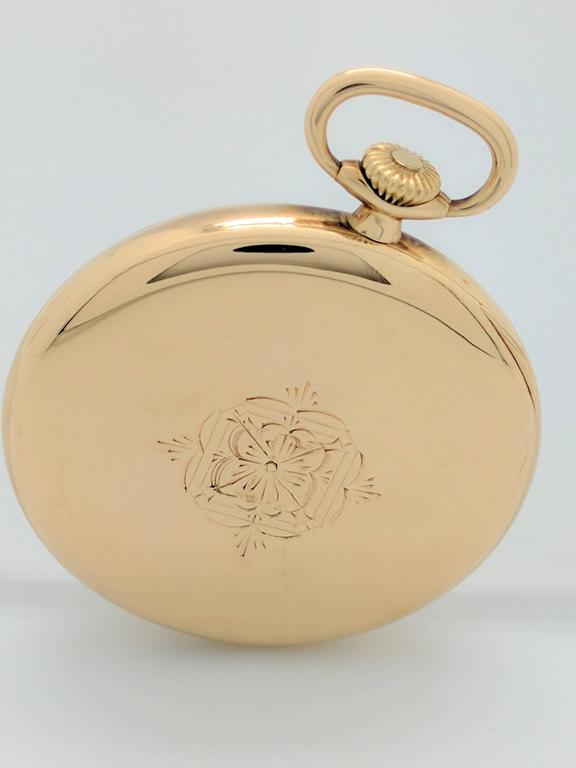 Patek Philippe for Tiffany & Co. Yellow Gold Pocket Watch, circa 1930s For Sale 2