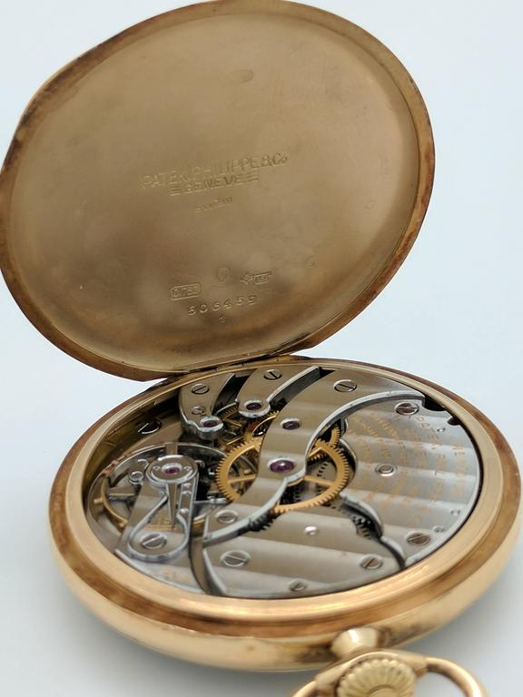 Patek Philippe for Tiffany & Co. Yellow Gold Pocket Watch, circa 1930s For Sale 6