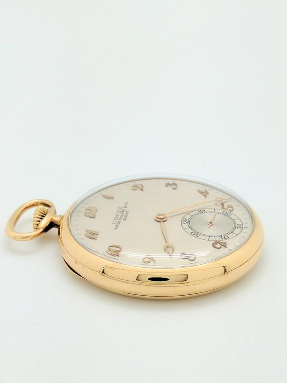 Patek Philippe for Tiffany & Co. Yellow Gold Pocket Watch, circa 1930s For Sale 1