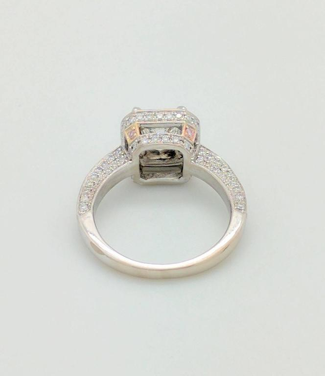 Simon G White Gold Princess Cut Diamond Engagement Ring For Sale 2
