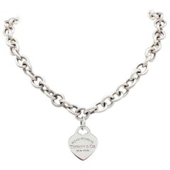 Tiffany & Co. Sterling Silver Please Return to Heart Necklace