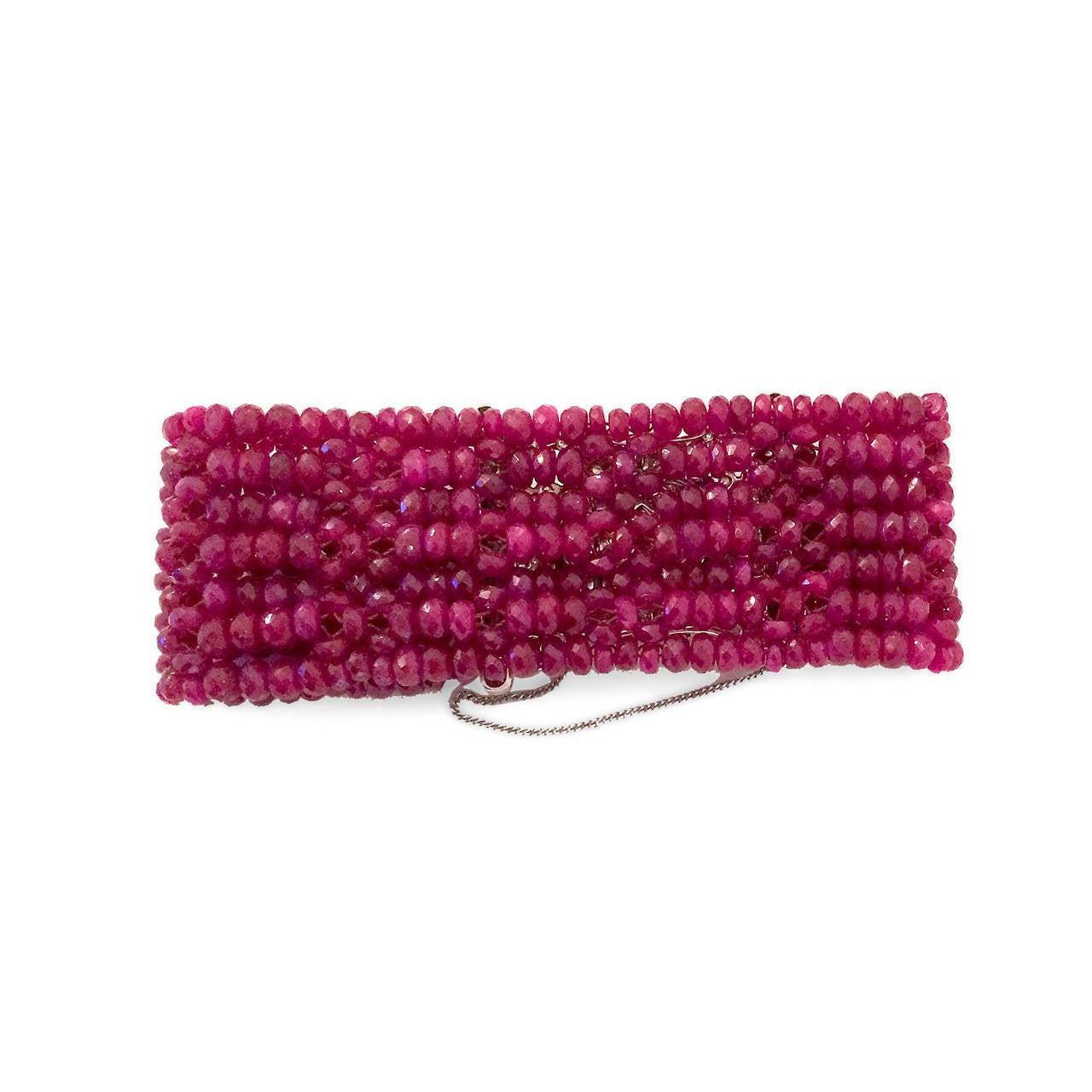 Devine Diamond and Ruby Bead Bracelet  5