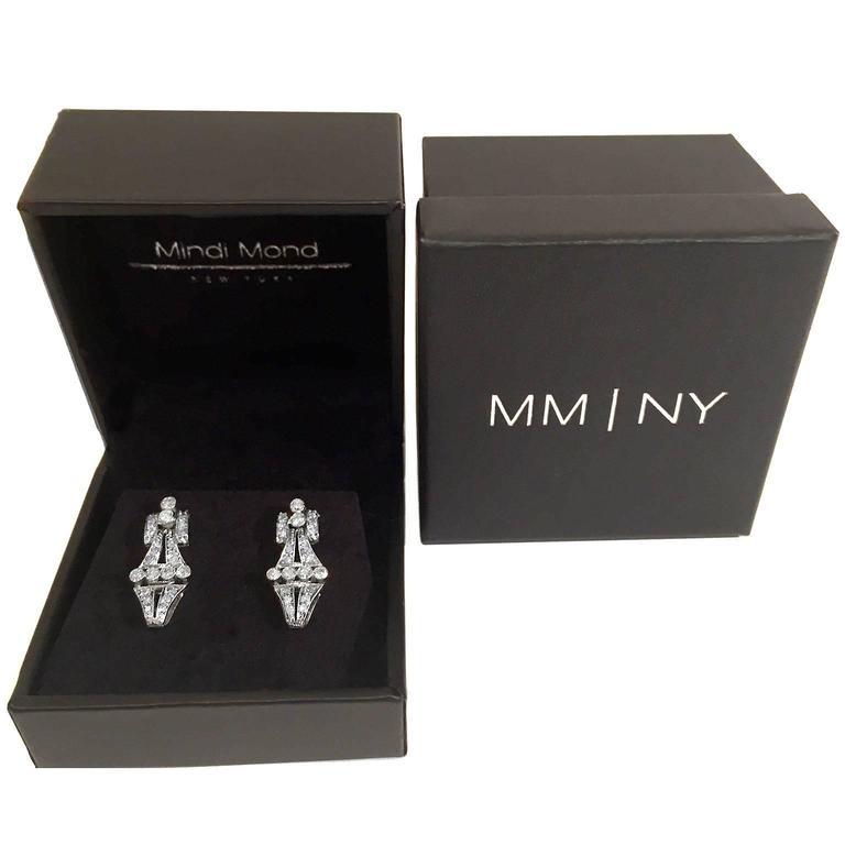 2 Carat Dress Up Down Diamond Platinum Earrings 3