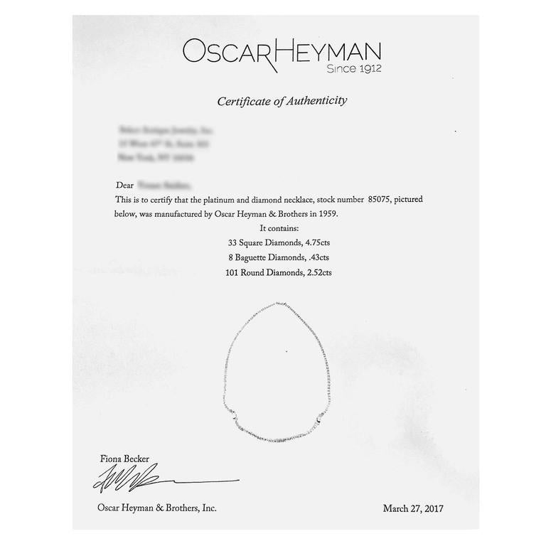 Stunning Oscar Heyman  Diamond Necklace 4