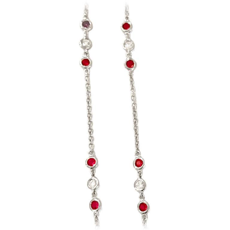 Art Deco Ruby Diamond Platinum Pendant 5