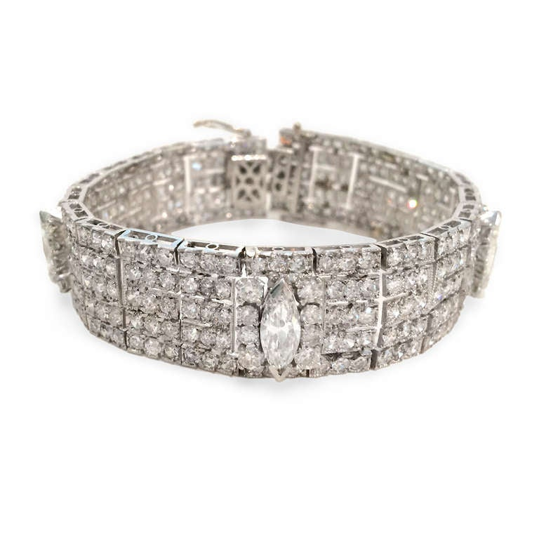 Very Fine 14 Carat Diamond Platinum Bracelet 3