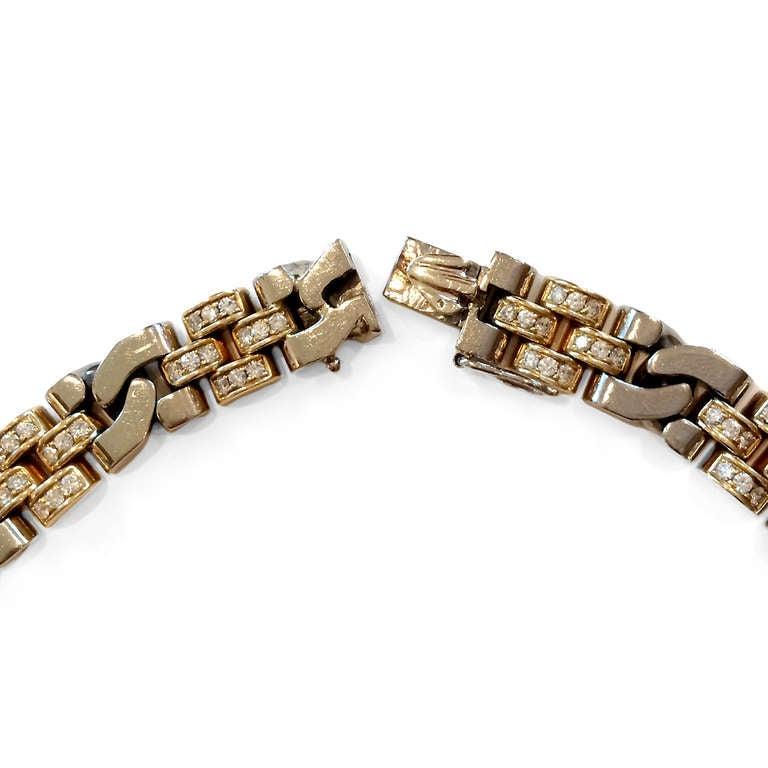Rolex 5 Carat Diamond Two-Color Gold Necklace 2
