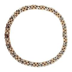 Rolex 5 Carat Diamond Two-Color Gold Necklace