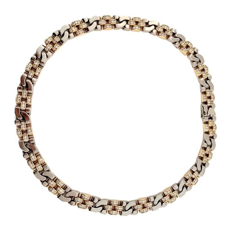 Rolex 5 Carat Diamond Two-Color Gold Necklace 1