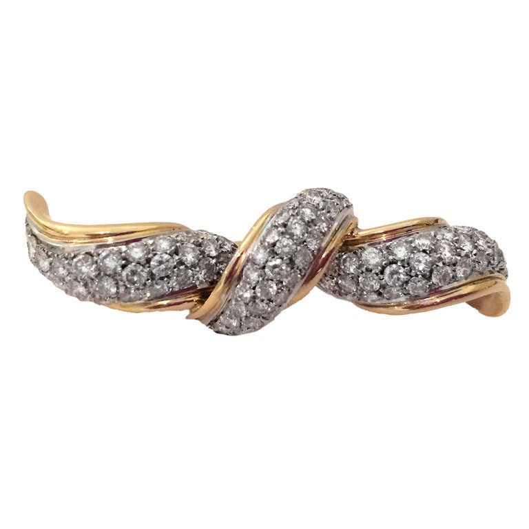 4 0 carat and gold two finger ring at 1stdibs