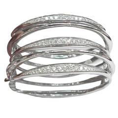 Diamond White Gold Multi-Loop Cuff Bracelet
