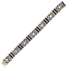 Edwardian Diamond Platinum Floral Design Bracelet