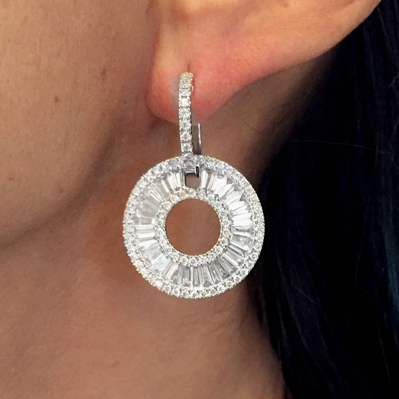 amidon amdhjn baguette earrings and diamond jewelers white gold jewelry round