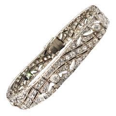 Edwardian 7 Carat Diamond Platinum Bracelet