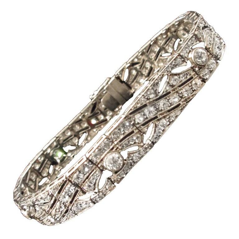 7.5 Carat Diamond Platinum Bracelet 1
