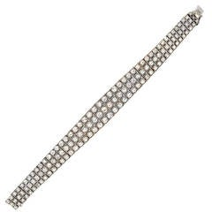 Art Deco 8  Carat Diamond Platinum Bracelet