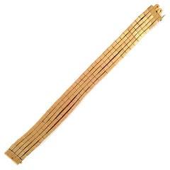 Pink Gold Heavy Five-Strand Bracelet